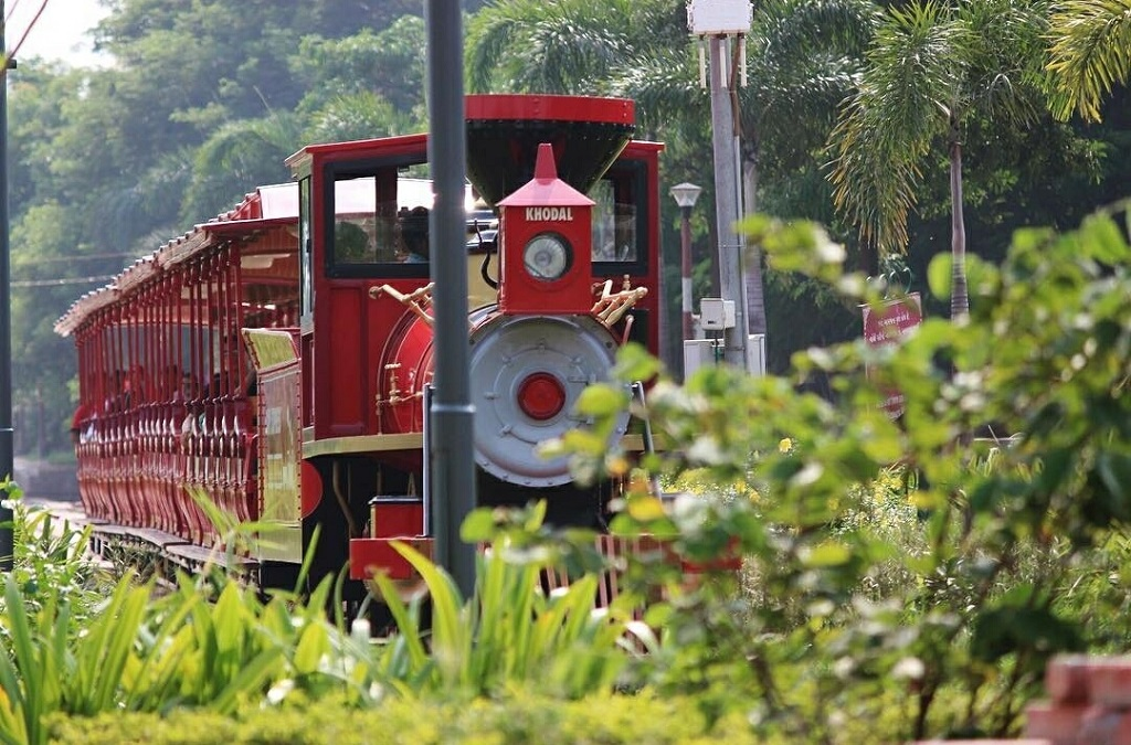 sneh rashmi botanical garden toy train 2