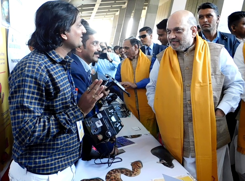 bharat parmar and home minister amit shah