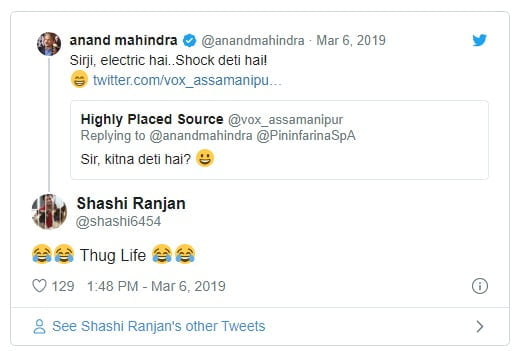 Anand Mahindra gives epic reply to man asking Kitna deti hai leaves netizens in splits Buzz News – India TV